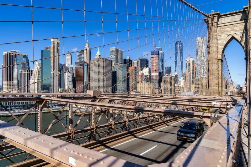 Rascacielos a?reos del Lower Manhattan imagenes de archivo