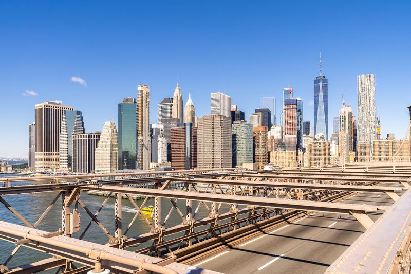 Rascacielos a?reos del Lower Manhattan imagen de archivo
