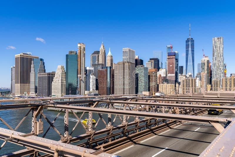 Rascacielos a?reos del Lower Manhattan fotos de archivo libres de regalías