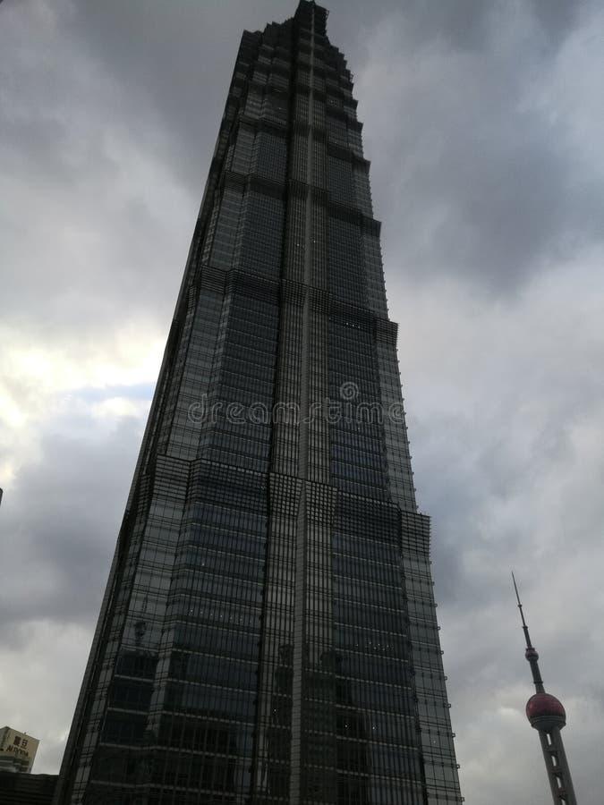 Rascacielos, torre de Jinmao fotos de archivo