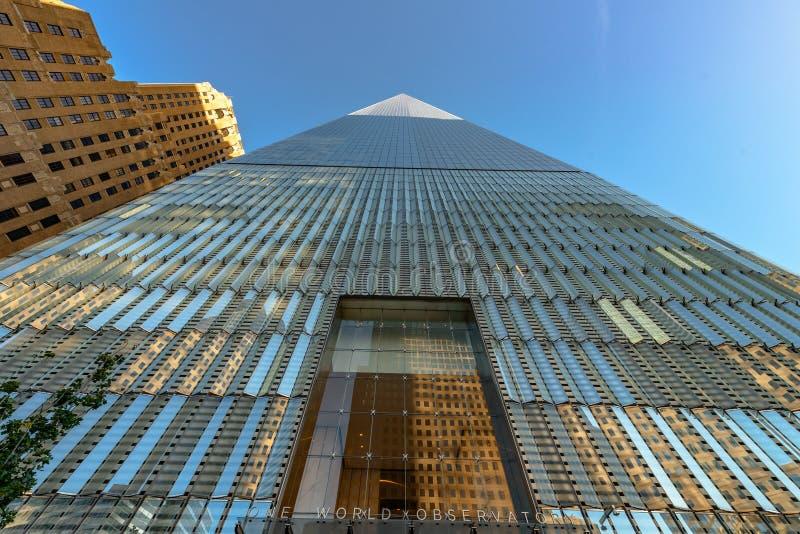 Rascacielos urbanos del Lower Manhattan foto de archivo libre de regalías