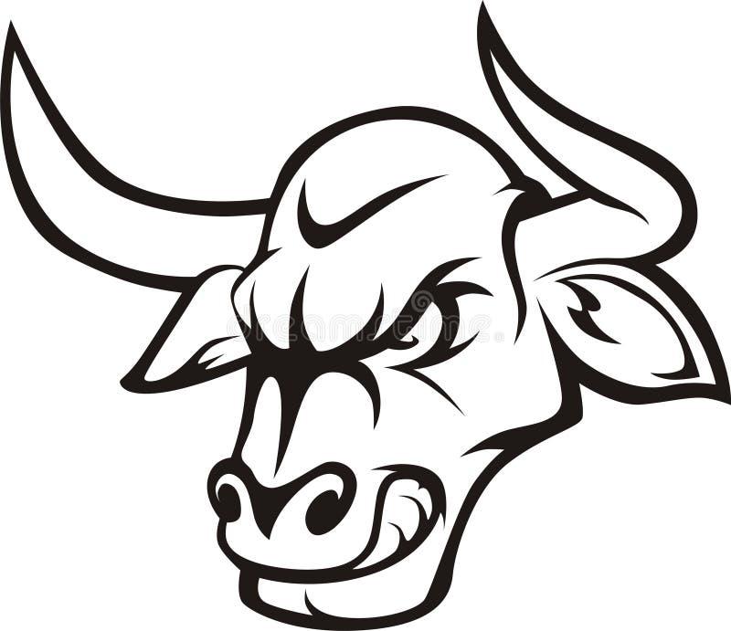 Rasen Bull lizenzfreie abbildung