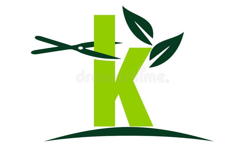 Rasen des Buchstabe-K lizenzfreie abbildung
