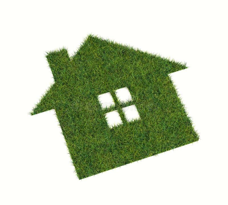 Rasen in Form von Haus lizenzfreie abbildung