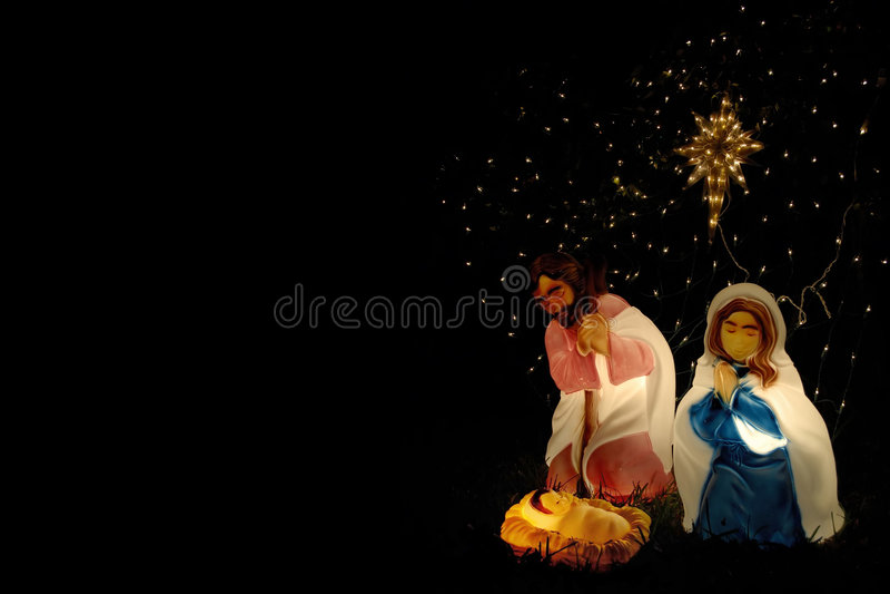 Rasen-Geburt Christi stockbild