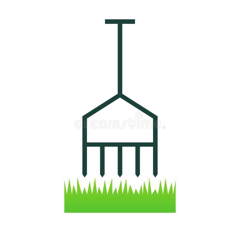 Rasen setzen Ikone mit Kohlensäure durch lizenzfreie abbildung