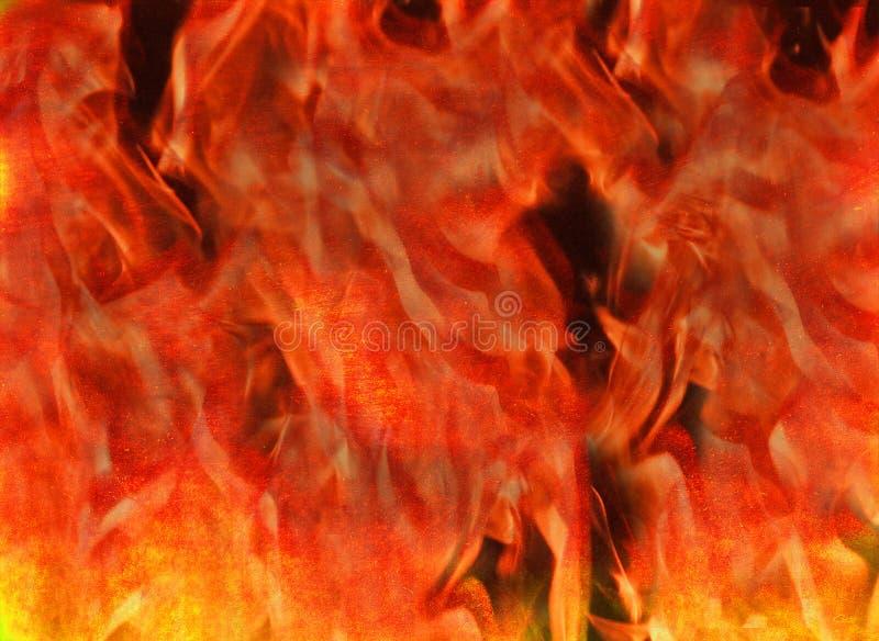 Rasender brennender Feuerflammenhöllenzusammenfassungs-Beschaffenheitshintergrund lizenzfreies stockbild