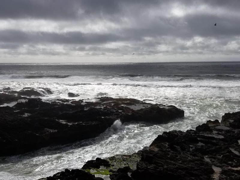 Rasender Ozean lizenzfreie stockbilder