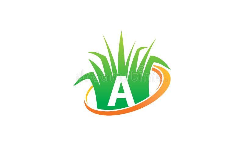 Rasenpflege-Mitte-Initiale A stock abbildung