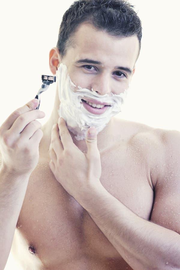 Raser de jeune homme photos stock