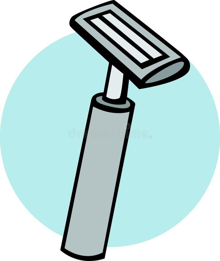 Raser le rasoir illustration de vecteur
