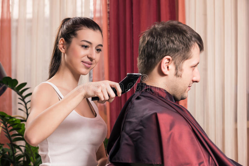 Raseur-coiffeur images stock