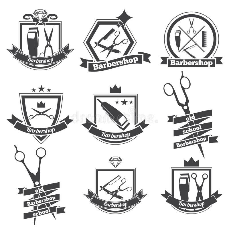 Raseur-coiffeur de logo de collection illustration de vecteur