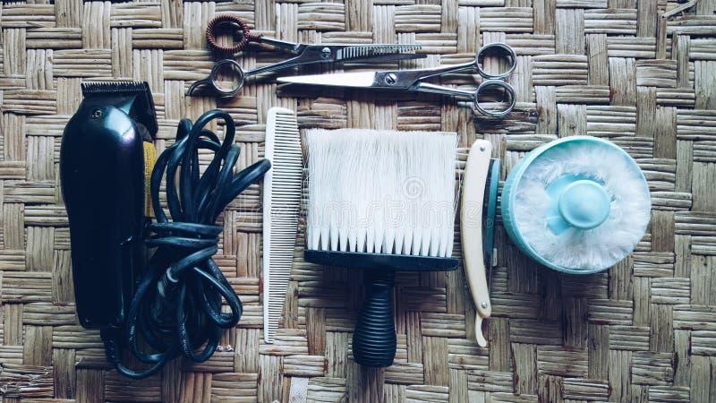 Raseur-coiffeur de vintage images libres de droits