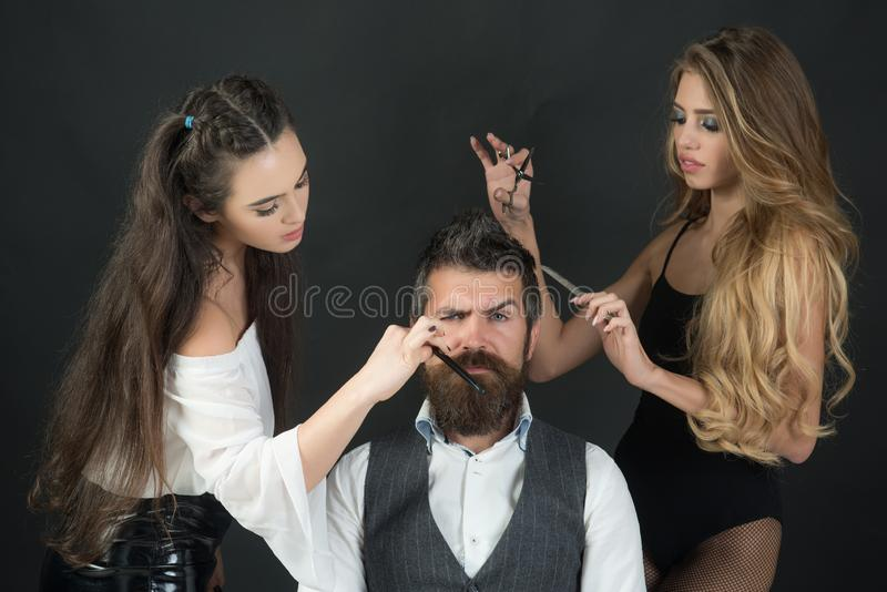 Raseur-coiffeur, mode, beauté, hippie photographie stock libre de droits