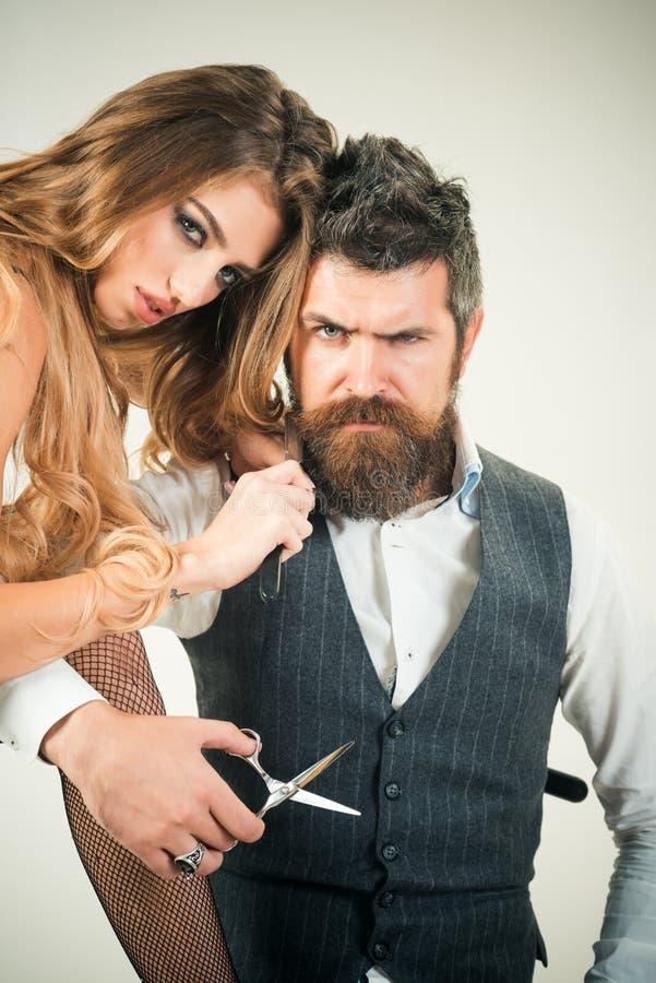 Raseur-coiffeur, mode, beauté, hippie images stock