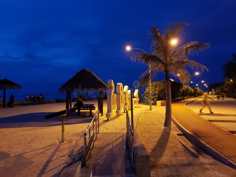 Rasfannu Strand in Malé, Malediven lizenzfreie stockbilder