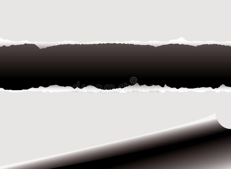 Rasgón del enrollamiento ilustración del vector