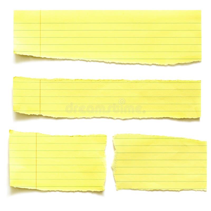 Rasgones amarillos del papel