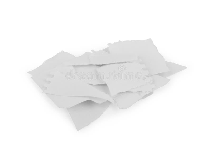 Rasgones del Libro Blanco, aislados en blanco con las sombras suaves fotos de archivo