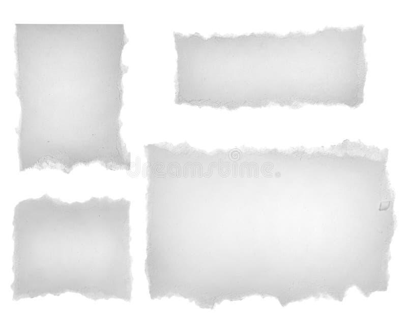 Rasgones del papel en blanco stock de ilustración