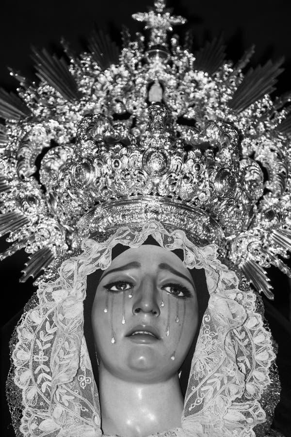 Rasgos da Virgem Maria imagem de stock royalty free