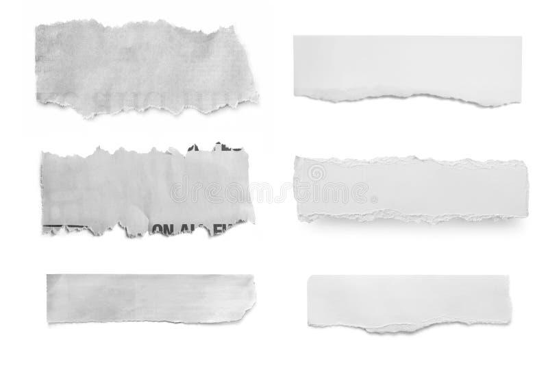 Rasgos do papel imagens de stock