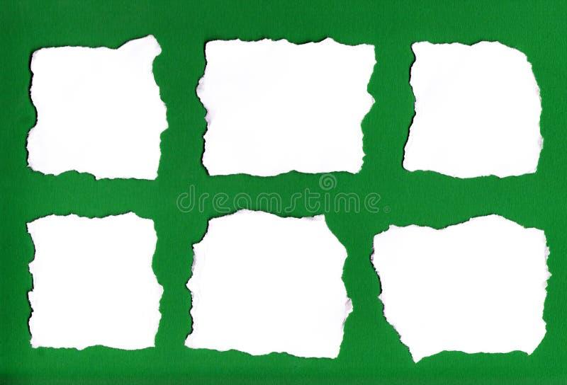 Rasgos do papel fotografia de stock