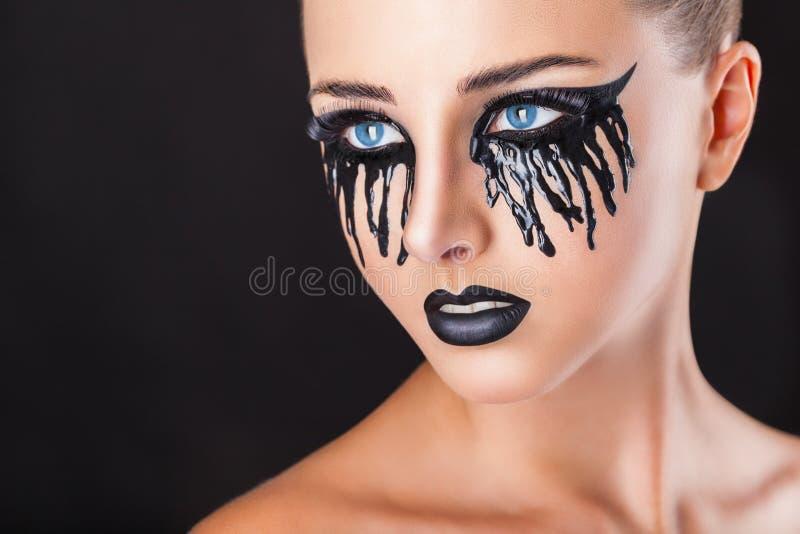 Rasgos do preto imagem de stock