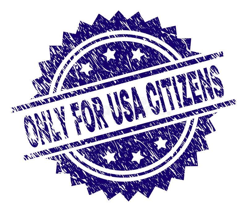 Rasguñado texturizó SOLAMENTE PARA los CIUDADANOS de los E.E.U.U. sellan el sello stock de ilustración