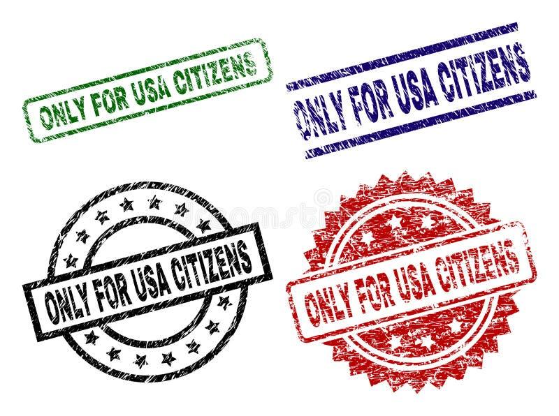 Rasguñado texturizado SOLAMENTE PARA los sellos del sello de los CIUDADANOS de los E.E.U.U. stock de ilustración