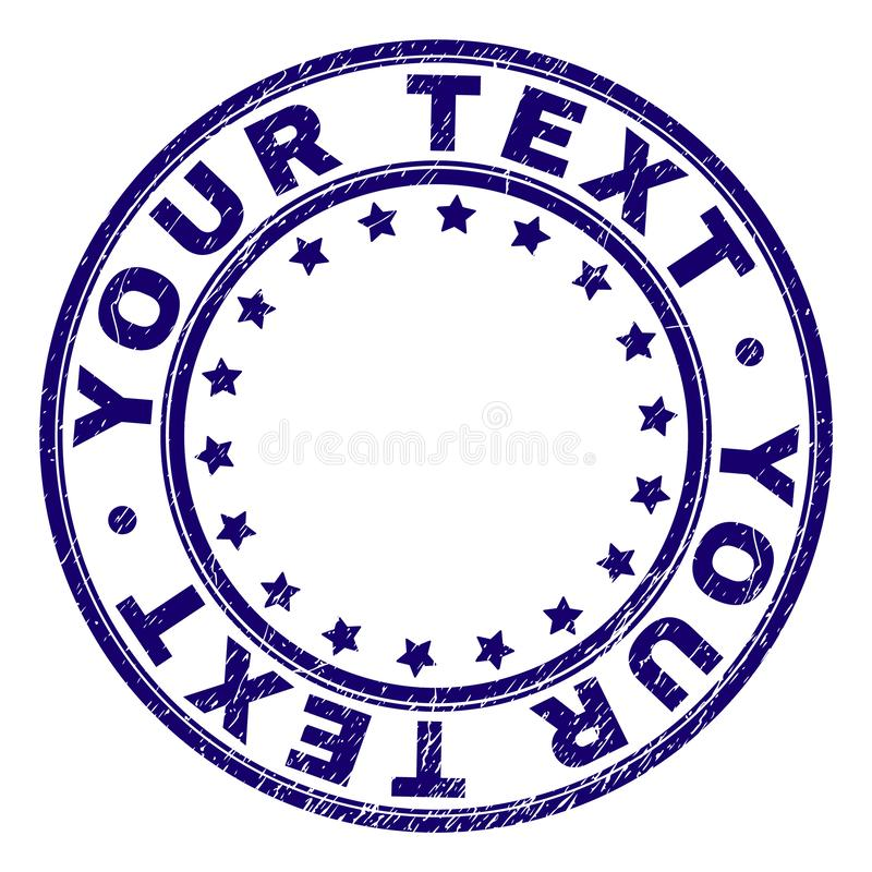 Rasguñado texturizado SU sello redondo del sello del TEXTO libre illustration
