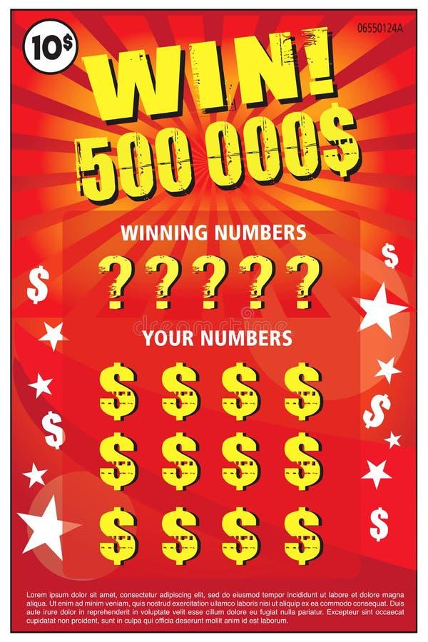 Rasguño inmediato del boleto de lotería del ejemplo del vector libre illustration