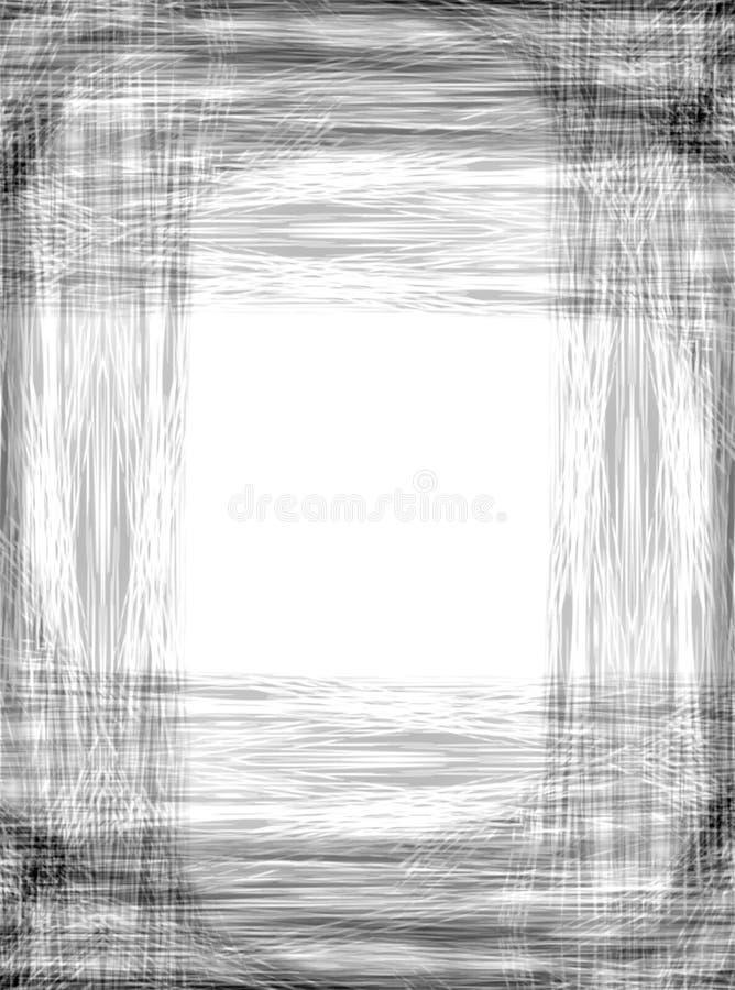 Rasguños del marco de la foto de Grunge stock de ilustración