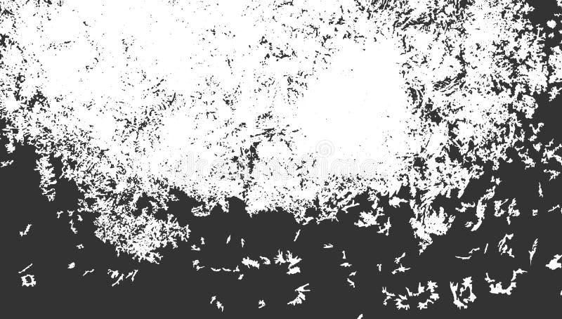 Rasguños negros en blanco Fondo de la turquesa Textura de Grunge ilustración del vector