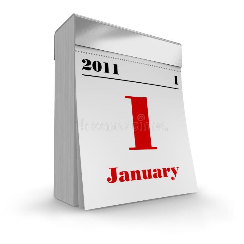 Rasgue el calendario 2011 ilustración del vector
