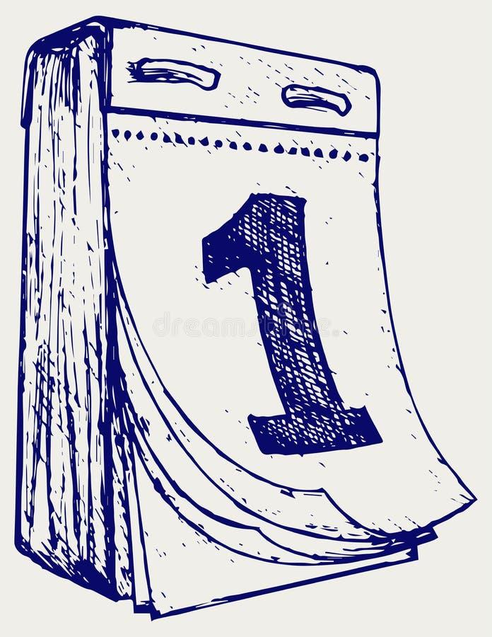 Rasgue el calendario libre illustration