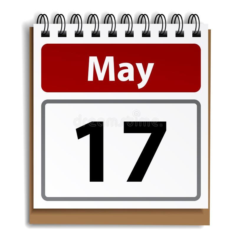 Rasgue el calendario del día libre illustration