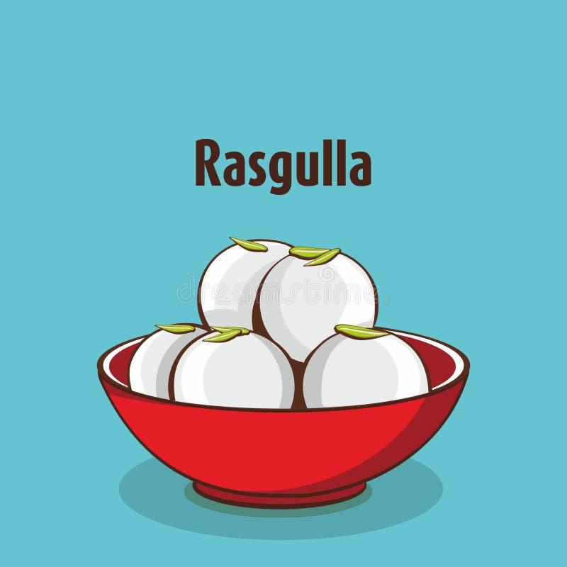 Rasgulla doce tradicional indiano ilustração royalty free