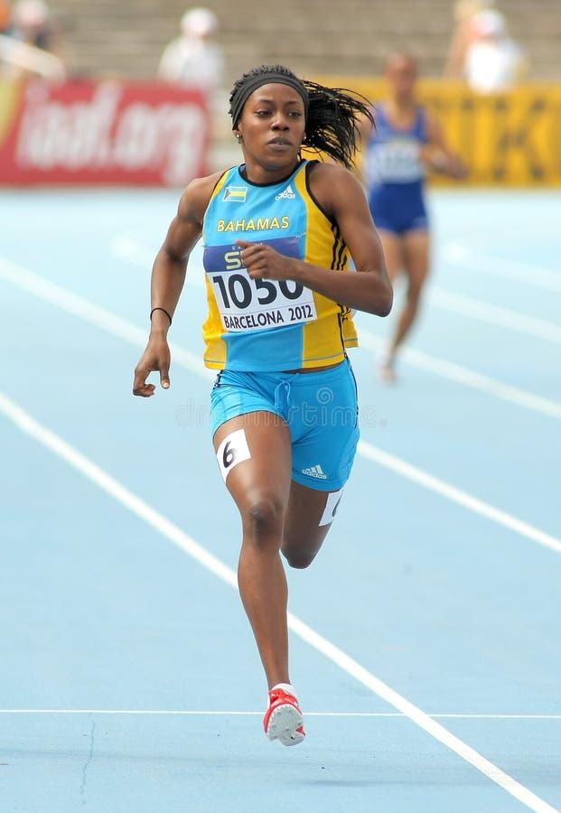 Rashan Brown von Bahamas lizenzfreie stockfotos