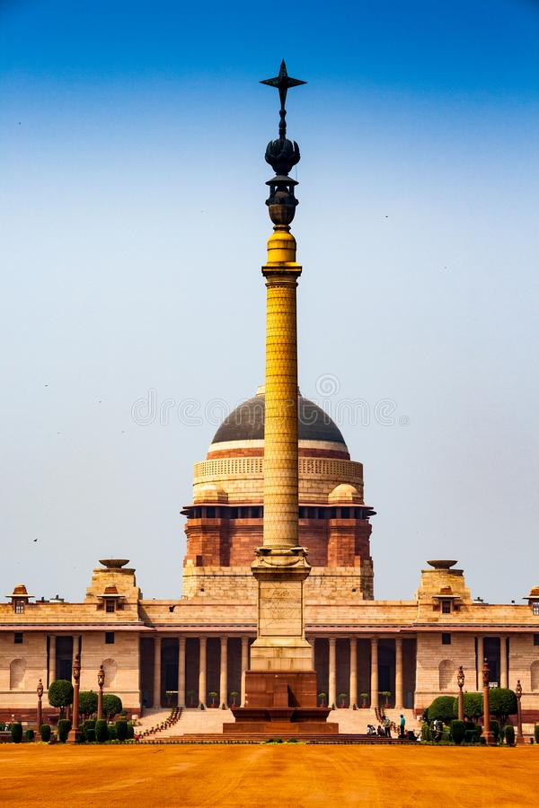 Rashtrapati Bhavan is the official home of the President of India stock image