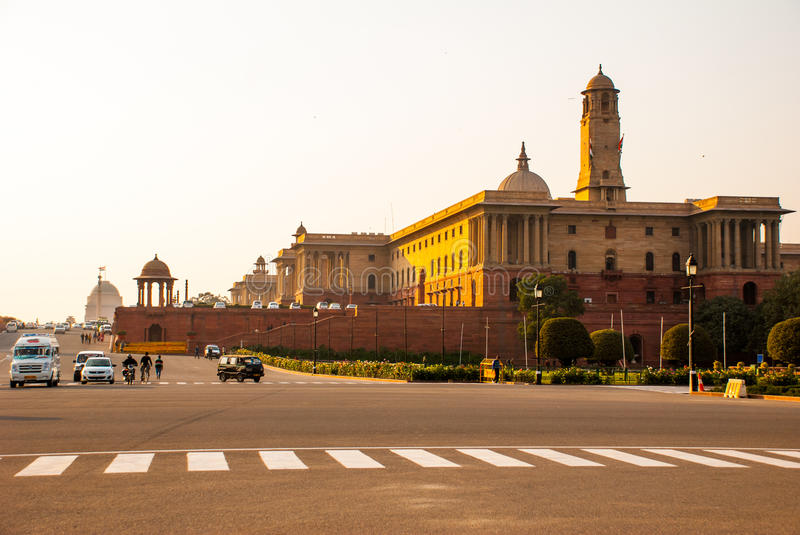 Rashtrapati Bhavan is the official home of the President of India royalty free stock photo
