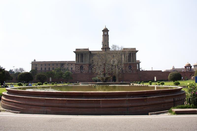 Rashtrapati Bhavan und Delhi-Sekretariat in Neu-Delhi, Indien stockbild