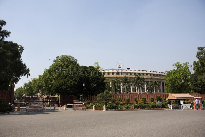 Rashtrapati Bhavan und Delhi-Sekretariat in Neu-Delhi, Indien stockfotos