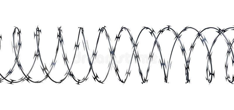 Rasiermesser-Draht-Front vektor abbildung