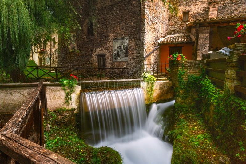 Rasiglia Umbria Riverside Town Italy royalty-vrije stock afbeelding