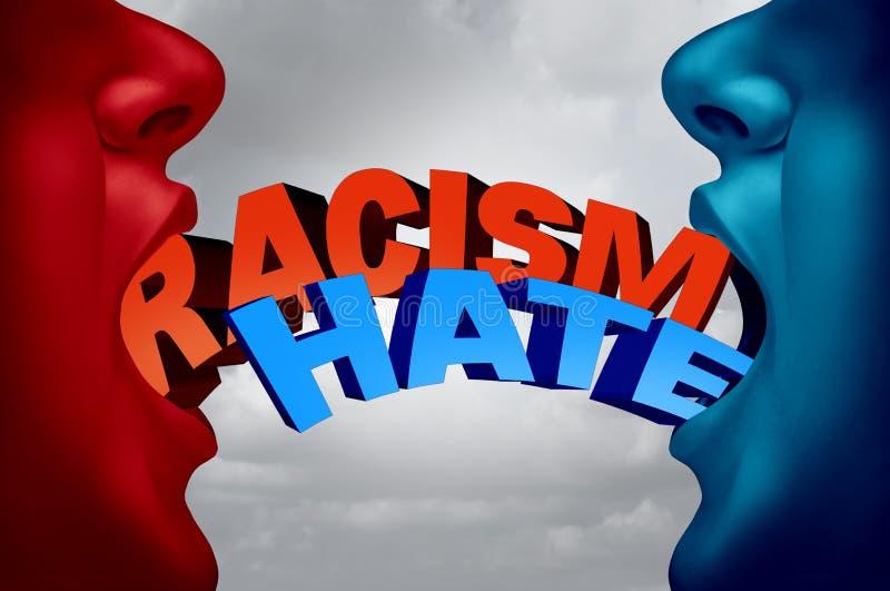 Rasizmu I nienawiści socjalny zagadnienie royalty ilustracja