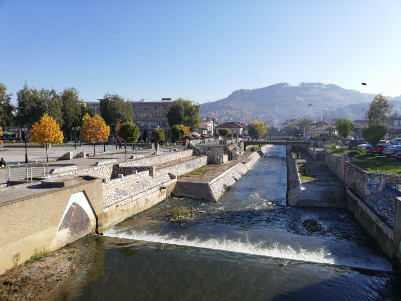 Raska River, October morning royalty free stock photography