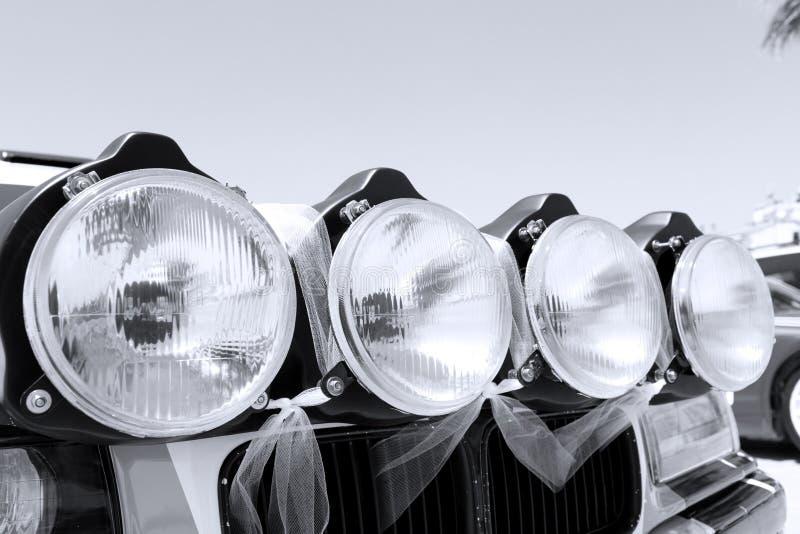 Raslichten in een uitstekende auto royalty-vrije stock foto