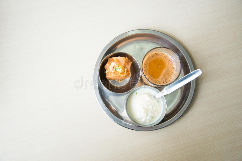 Rasmalai and tea stock photos